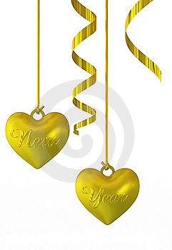 New Year Hearts Royalty Free Stock Photography - Image: 18804137