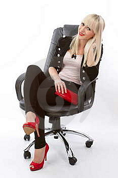 Seated Woman Posing Royalty Free Stock Image - Image: 18804156