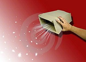 Open Magic Gift Box Stock Photo - Image: 18806850