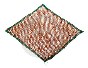 Tablecloth From Burlap. Stock Image - Image: 18806991