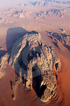 Wadi Rum Desert From Above. Jordan Royalty Free Stock Image - Image: 18808156