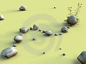 岩石的路径 库存图片 - 图片: 18809271