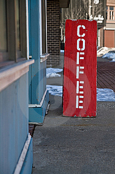 Coffee shop sign Stock Image