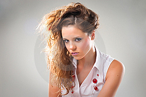 Perky Young Teenage Girl Royalty Free Stock Images - Image: 18810549