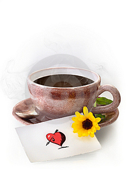 Coffee And Love-note Stock Photography - Image: 18813192
