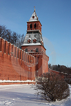 Moscow. Kremlin Wall. Blagoveshchenskaya Tower. Stock Photography - Image: 18815492