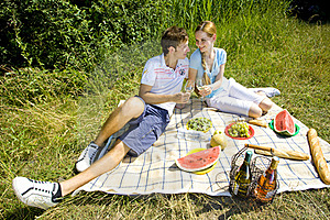 Couple At A Picnic Stock Images - Image: 18816384
