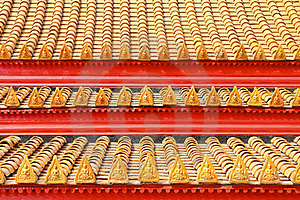 Roof Tiles Classic In Thailand Temple Stock Photos - Image: 18819483