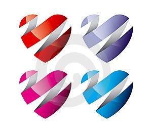 Corações Coloridos Fotografia de Stock - Imagem: 18821332