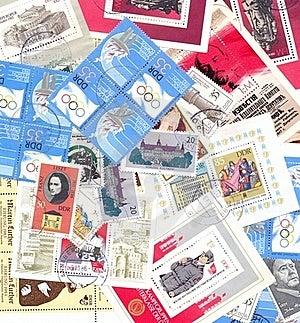 DDR Postal Stamps  German Democratic Republic Royalty Free Stock Image - Image: 18821776