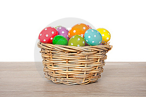 Colorful Easter Eggs Painted Royalty Free Stock Photo - Image: 18822115