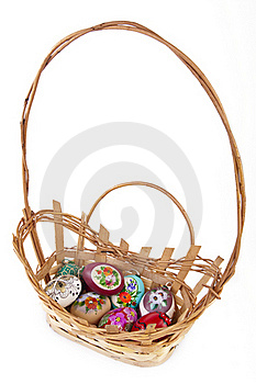 Eggs In Easter Basket Stock Photography - Image: 18822572