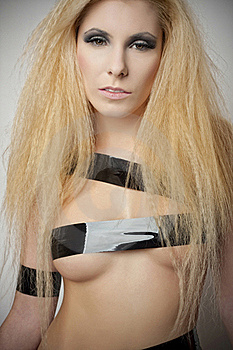 Sensual Fetish Blond Girl Stock Images - Image: 18823874