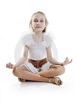 Girl Relaxing Meditating Stock Photos - Image: 18824623