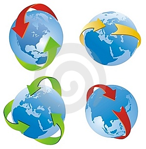 Arrows Around The Planet Stock Images - Image: 18824684