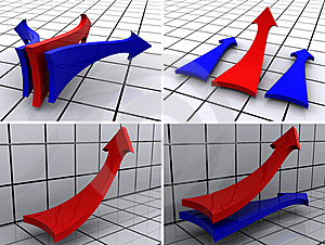 Arrows Four Variants Stock Image - Image: 18824961