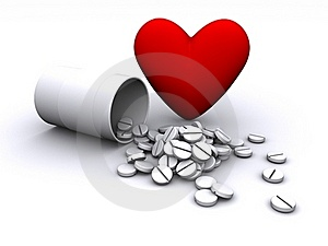 Tablets With Heart Symbol Stock Images - Image: 18825794
