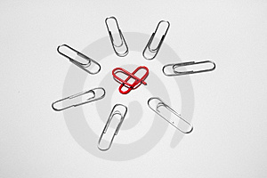 Paper Clip Royalty Free Stock Photography - Image: 18827937