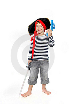 Young Boy Dressed As Pirate Royalty Free Stock Image - Image: 18830996