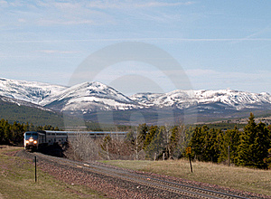 Passenger Train Coming Around The Bend Royalty Free Stock Photo - Image: 18836035