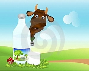Bottle And Glass With Milk, Cdr Vector Stock Images - Image: 18838884