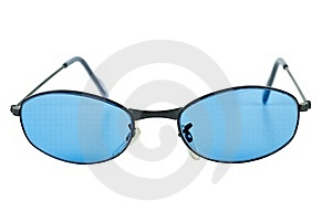 Pair Of Blue Sunglasses Stock Photography - Image: 18839372