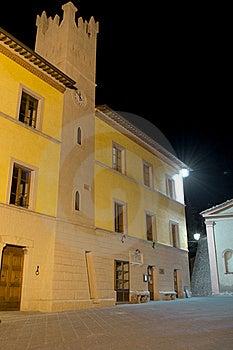 Trequanda City Hall Stock Photography - Image: 18840482