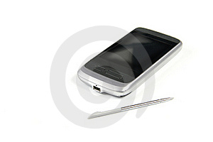 Mobile Phone With Touch Screen Royalty Free Stock Photo - Image: 18846785