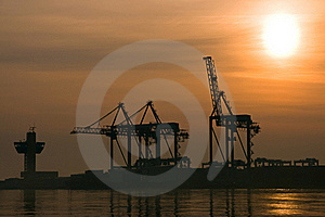 Sunrise In The Harbor Royalty Free Stock Photos - Image: 18849228