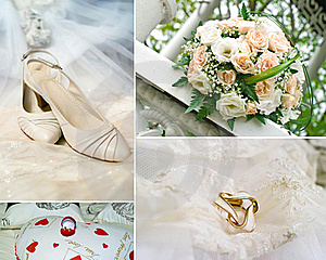 Wedding Collage Free Stock Photography
