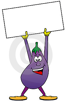Happy Eggplant Stock Photos - Image: 18850553