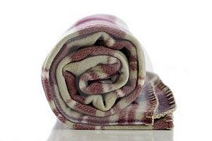 Folded Blanket Stock Image - Image: 18852441