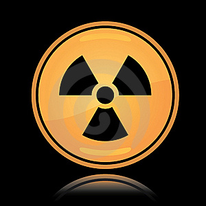 Yellow Round Icon Radiation Sign Stock Image - Image: 18853921