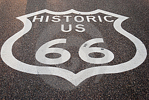 Route 66 Sign Royalty Free Stock Photo - Image: 18854185