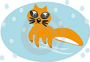 Cartoon Fox On Isolated Background Stock Photography - Image: 18854962