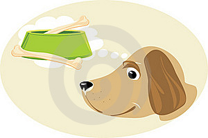 Doggy Dreams About A Meal Royalty Free Stock Photography - Image: 18864317