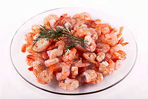Shrimps On A Plate Royalty Free Stock Photography - Image: 18864367