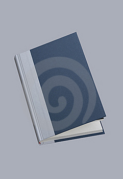 Plain Open Blue Book, For Design Layout Royalty Free Stock Photography - Image: 18869567