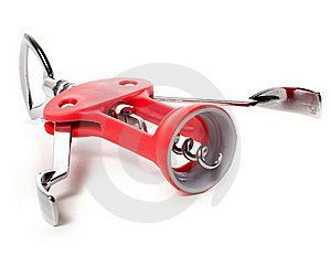 Red Corkscrew Stock Image - Image: 18870981