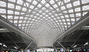 Modern Railway Station Stock Photography - Image: 18871242