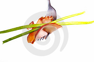Sausage On A Fork Royalty Free Stock Photo - Image: 18872195