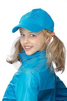 Yong Girl In The Blue Cap Stock Photos - Image: 18875373