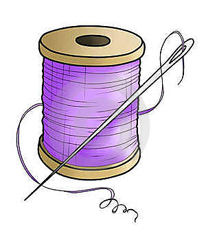 Purple Yarn With A Needle(color) Royalty Free Stock Photography - Image: 18877197