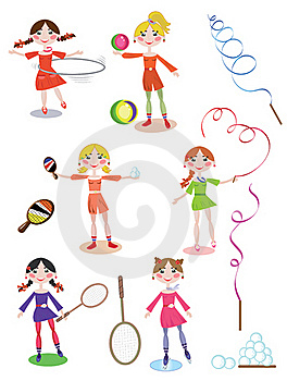 Active Girls Stock Photo - Image: 18877700