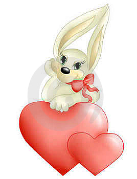 Rabbit With Heart(color) Stock Images - Image: 18877884