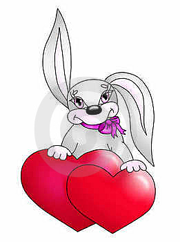 Rabbit With Heart(color) Stock Photos - Image: 18877893