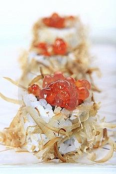 Salmon Egg Sushi Royalty Free Stock Photography - Image: 18878137