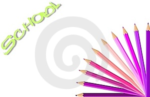 Happy Background With Colored Pencils Royalty Free Stock Images - Image: 18878779