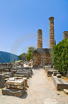 Ruins Of The Ancient City Delphi, Greece Royalty Free Stock Images - Image: 18879189