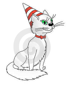 Happy Birthday,Cat!(color) Stock Image - Image: 18879281